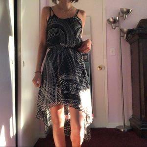 Express High-Low Print Dress